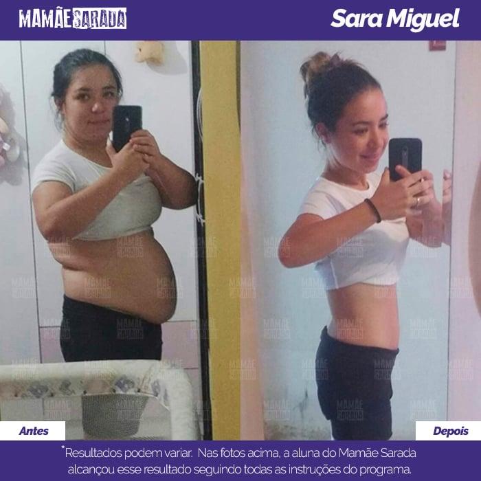 Sara ficou impressionada com o que conquistou em pouco tempo com Mamãe Sarada