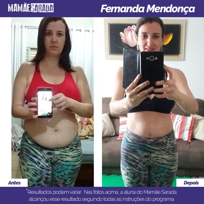 Fernanda Mendonça mostras os resultados que obteve em 60 dias de Mamãe Sarada